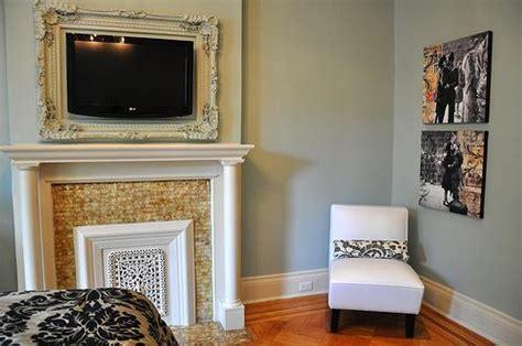 white slipper chair transitional bedroom benjamin silver marlin limestone