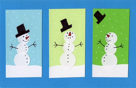 snowman cards to make sticker snowman card projects for