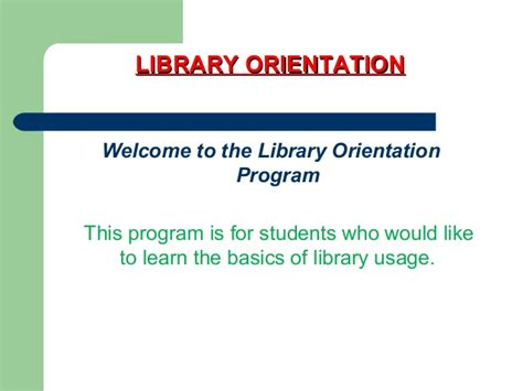 Orientation Programme For Mba Students Ppt by Library Orientation 2012 Ppt