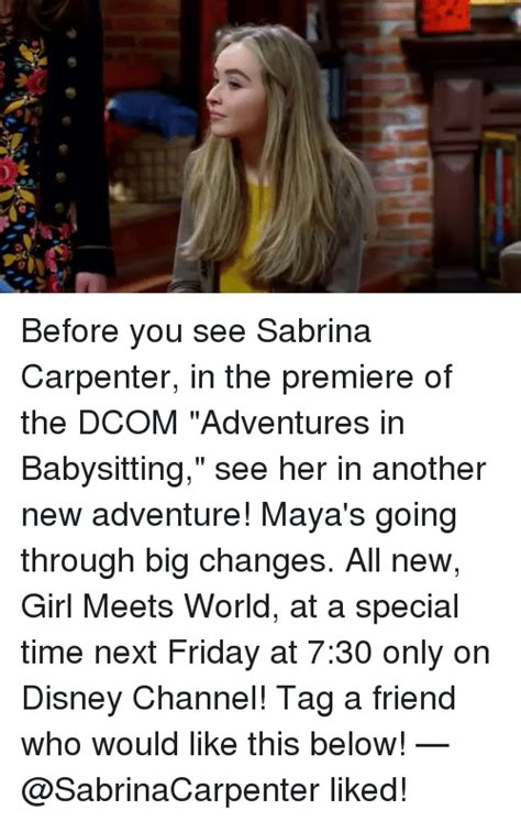 Adventures In Babysitting Meme - 25 best memes about sabrina carpenter sabrina carpenter memes