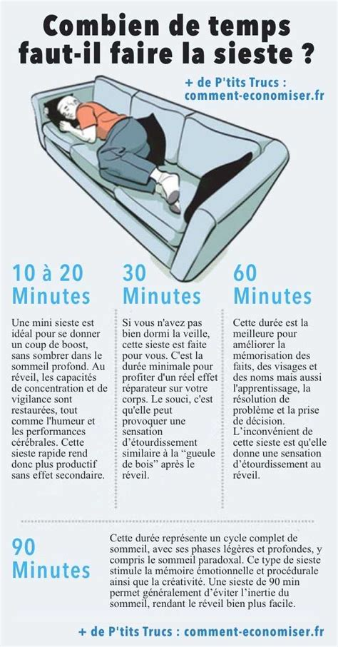 combien de temps doit durer une sieste pour quelle soit