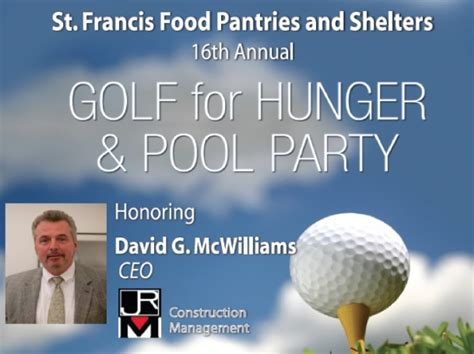 st francis food pantries shelters golf for hunger 2014