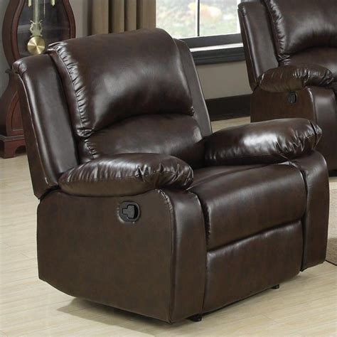 faux leather recliner features