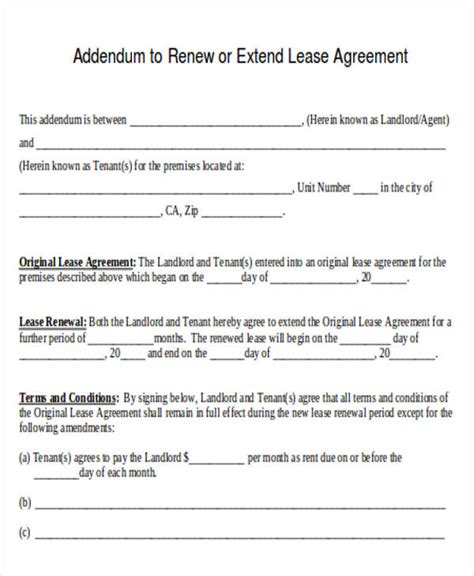 Lease Extension Agreement Letter agreement letter formats