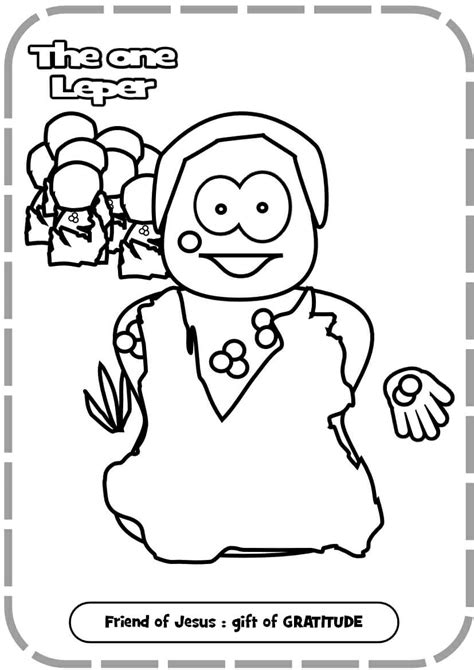 coloring pages jesus heals 10 lepers free heals leper coloring pages