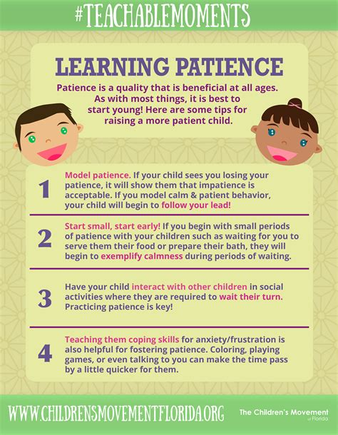 Tips On Patiently by The Children S Movement Of Florida Teachablemoments