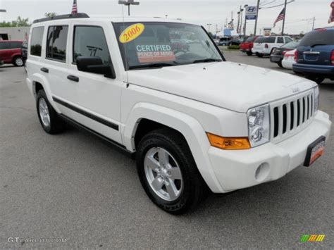 2006 Jeep Commander White 2006 White Jeep Commander 4x4 30817074 Gtcarlot