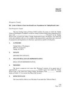 Lease Agreement Letter Of Intent Sle Letter Of Intent To Lease Commercial Real Estate