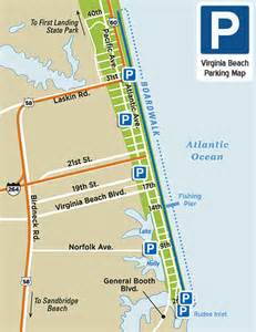 Virginia Beach Map by Virginia Beach Parking Map Virginia Beach Vacation Guide