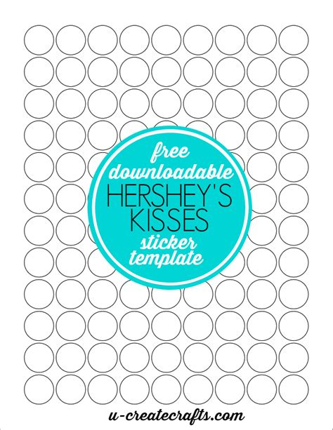 stickers template how to make hershey kisses stickers