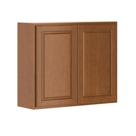 home depot cognac cabinets hton bay madison assembled 36x30x12 in wall cabinet in