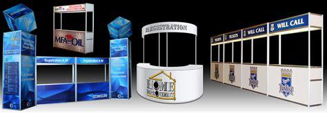 Meja Event Desk registration counters liberty exposition services