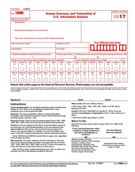 Irs Form 1096 Template 1096 form 2015 free