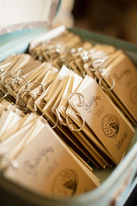 Giveaways For Wedding - check out these mini recipe book wedding favors offbeat bride