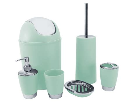 mint green bathroom accessories mint green 6pc bathroom accessory set tumbler toilet brush