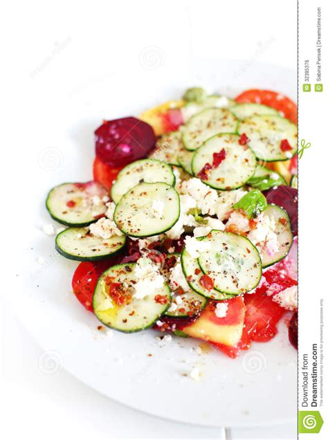 cucumber salad with tomatoes cottage cheese and herbs