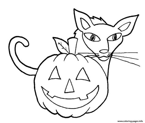 easy coloring pages for halloween easy halloween cat and pumpkin s for kindergarten27d9