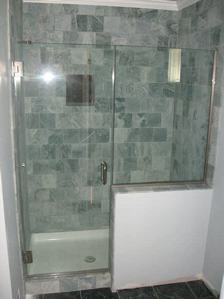 Half Glass Shower Doors Modern Showers Glass Half Wall Heavy Glass Door With Inline Panel On Half Wall Cool Things