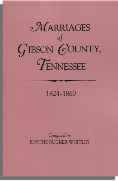 United States Marriage Records Tennessee Marriage Records Gibson County 1824 1860 Rootspoint