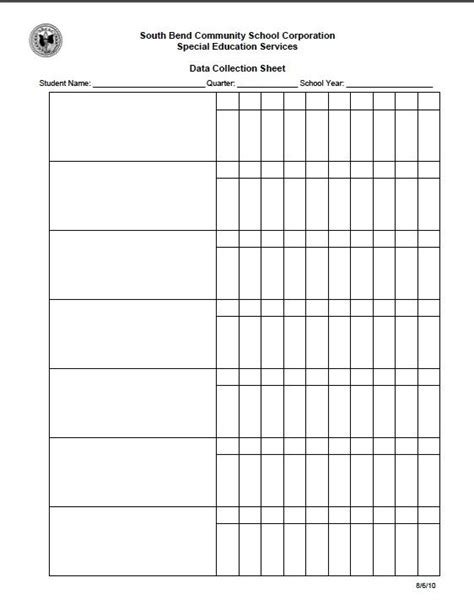 Best 25 Data Collection Sheets Ideas On Pinterest Data Collection Iep Data Tracking And Classroom Data Collection Template