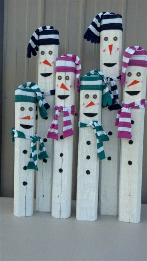 images of and craft for landscape timber snowmen