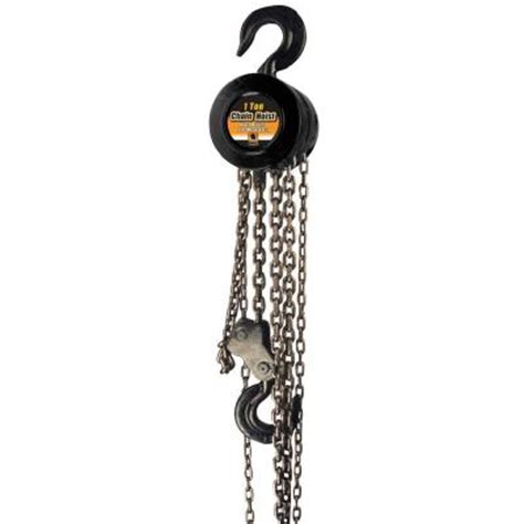 black bull 1 ton chain hoist choi1 the home depot
