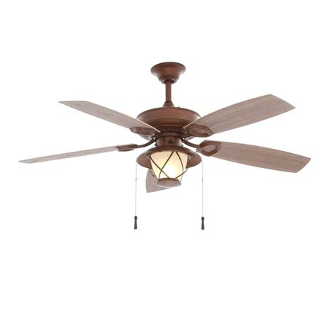 Cabin Ceiling Fans With Lights Hton Bay Glacier Bay 52 In Indoor Outdoor Rustic Copper Ceiling Fan With Light Kit 14938
