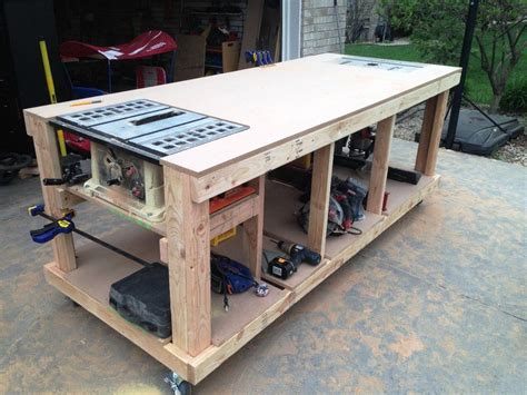 garage workbench plans  workbenches