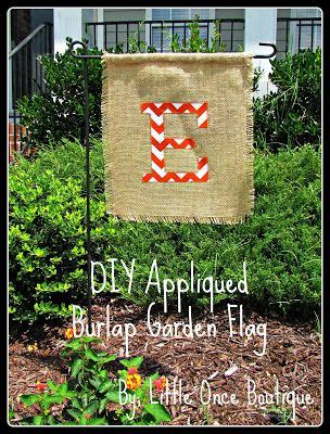 apliques bordados once burlap garden flag with chevron applique fall