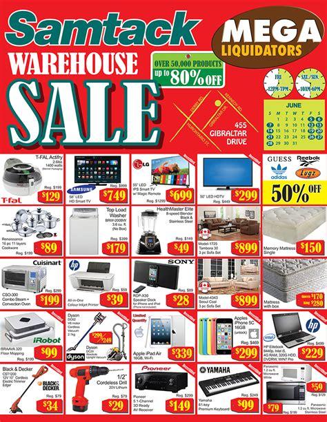 Flyers Sale Samtack Warehouse Sale In Mississauga Flyers Samtack
