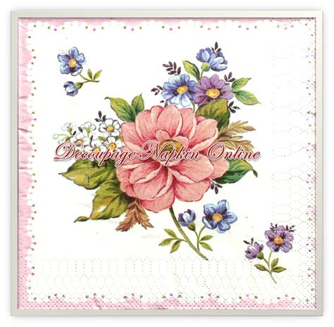 Decoupage Using Napkins - decoupage napkin