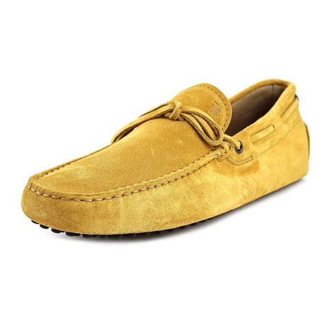 yellow loafers tod s new laccetto occh new gommini 122 moc suede