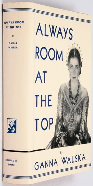 there is always room at the top always room at the top signed by ganna walska