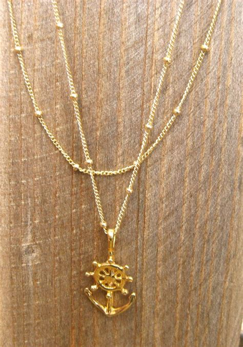 Double Chain Anchor Necklace by Emmarose1231 on Etsy