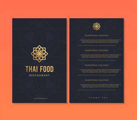 Thai Food Restaurant Menu Template Download Free Vector Art Stock Graphics Images Thai Restaurant Menu Templates Free