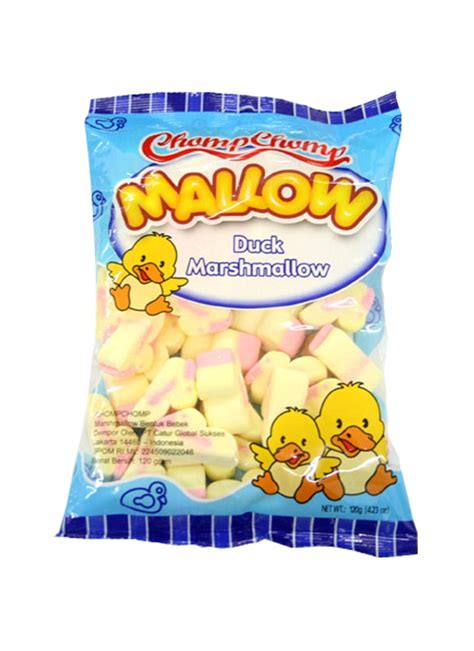chomp chomp mallow grape 60g chomp chomp marshmallow duck pck 60g klikindomaret