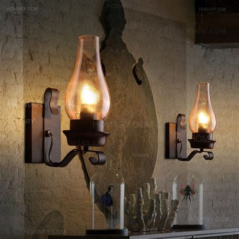 rustic wall sconce lighting vintage rustic single light wall sconce with glass