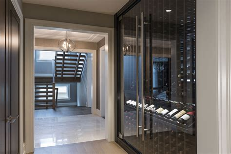Custom Refrigerated Wine Cabinet ? North Shore Modern Home