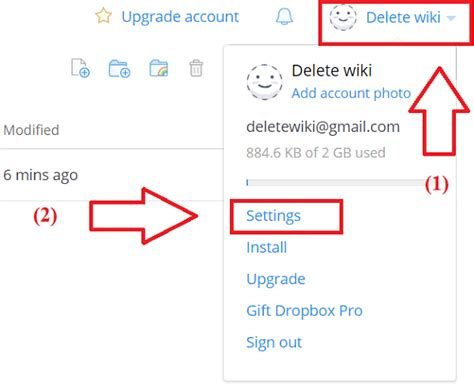 dropbox turn on document in setting how to delete dropbox account permanently delete wiki