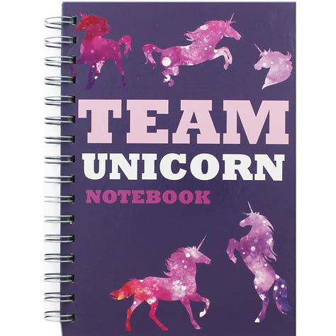 Unicorn A5 Notebook a5 team unicorn notebook gifts for teenagers at the works