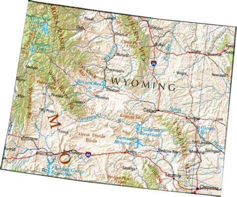 printable wyoming road map wyoming state map with counties bnhspine com