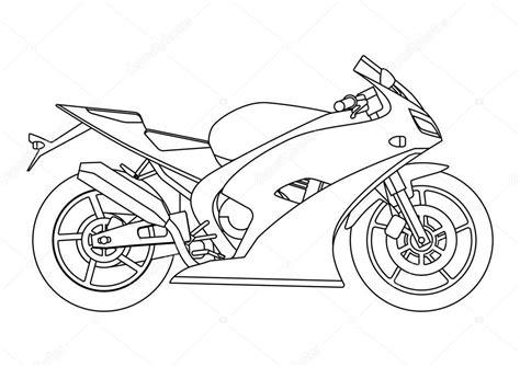 el boyama kitabi icin bir vektoer yeni motosiklet cizim