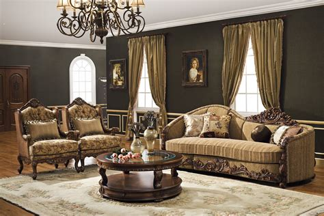 the geneva formal living room set