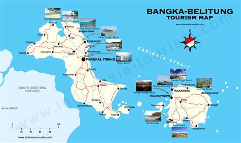 Peta Wisata Provinsi Kepulauan Bangka Belitung Kota Pangkalpinan H1051 peta wisata pulau bangka belitung taman surga di bangka