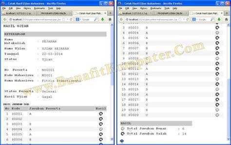 cara membuat web ujian online dengan php source code ujian online php bunafit komputer