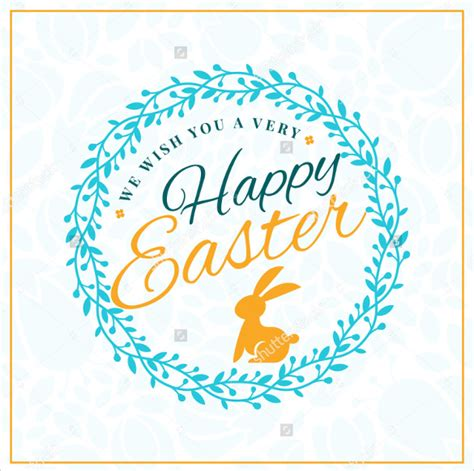 Easter Greeting Card Template by 23 Easter Greeting Card Templates To Sle