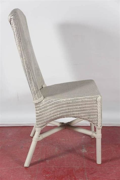 Six Vintage Lloyd Loom Wicker Dining Chairs For Sale At Wicker Dining Chairs For Sale