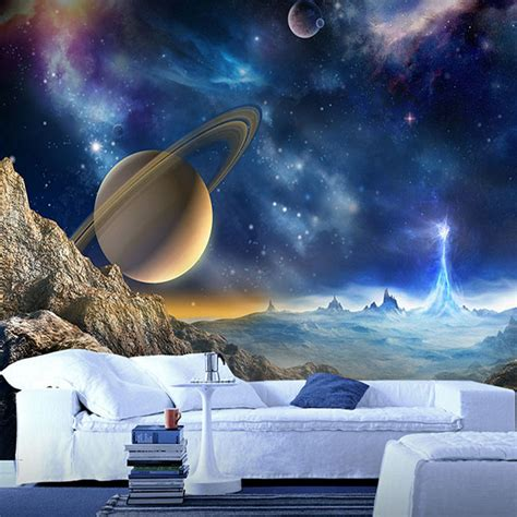 wallpaper for walls space custom 3d mural wallpaper for wall outer space planet
