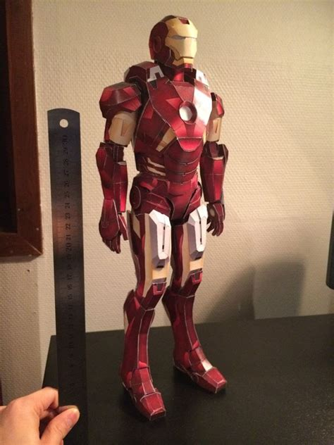 How To Make Paper Iron Suit - iron vii paper model papercraft