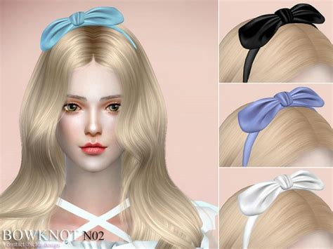 bow set at studio k creation 187 sims 4 updates sims 4 content hair bow the sims resource necklace n02 by